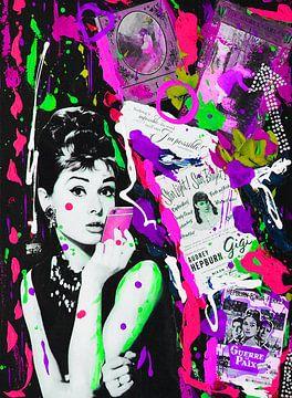 Audrey Hepburn iPhone Violett von Kathleen Artist Fine Art