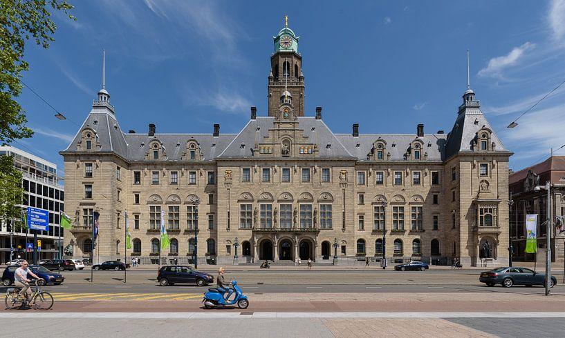Rotterdam gemeentehuis aan de Coolsingel, Nederland van Martin Stevens