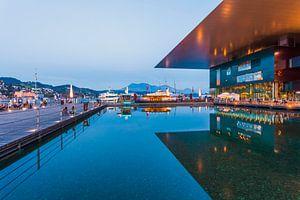 KKL in Luzern 's nachts in Luzern