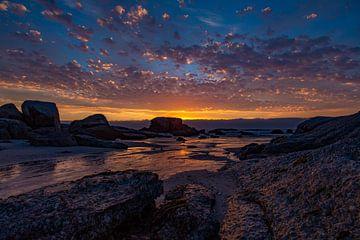 Zonsondergang, Bloubergstrand Beach, Zuid-Afrika von Willem Vernes