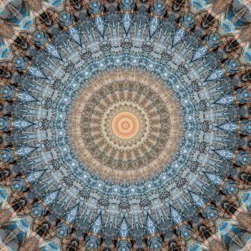 Mandala-blauwe lichten van Christine Bässler
