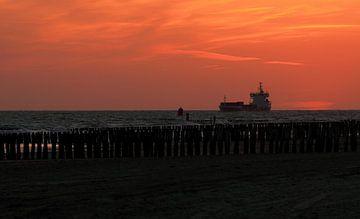 Schiff für die Küste von Westkapelle von MSP Canvas