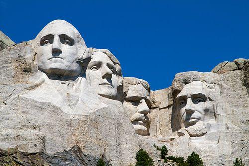 Mount Rushmore met vier presidenten in de rots