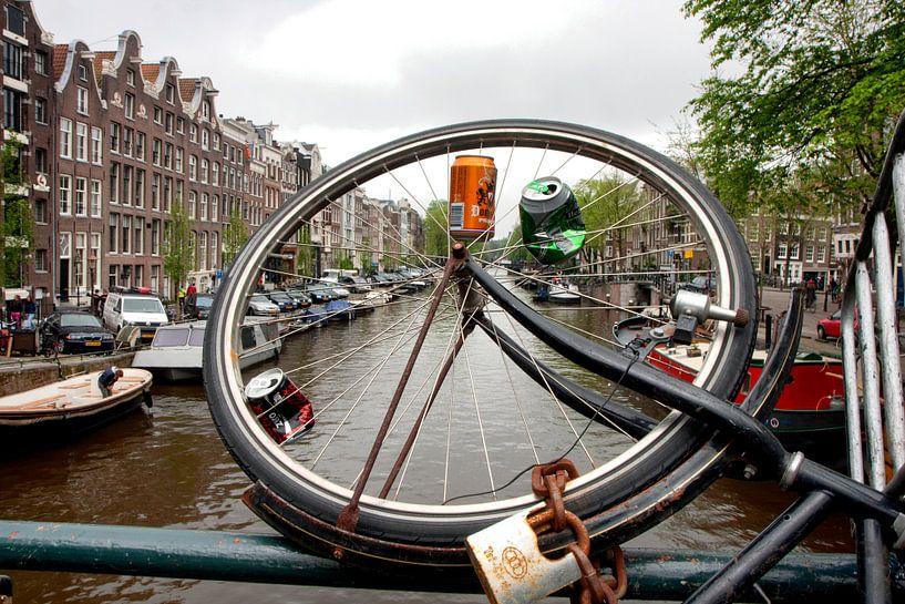 Blikvanger gracht Amsterdam van Jan Sportel Photography