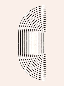 Retro jaren 20 vintage  geometric shape in Bauhaus stijl . Nr.16 van Dina Dankers