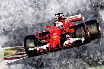Vettel, Ferrari von Theodor Decker