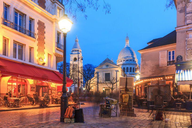 Place du Tertre Parijs 2 van Dennis van de Water
