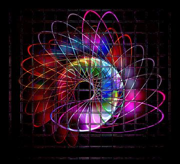 Illuminated helix #3 van Leopold Brix