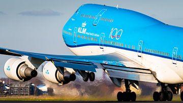 KLM Boeing 747-400 take-off vanaf de Polderbaan van Dennis Janssen