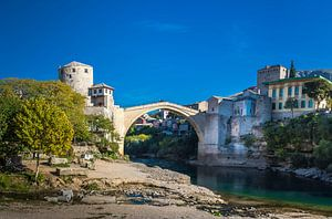 Stari Most, de oude brug in Mostar, Bosnië-Herzegovina van