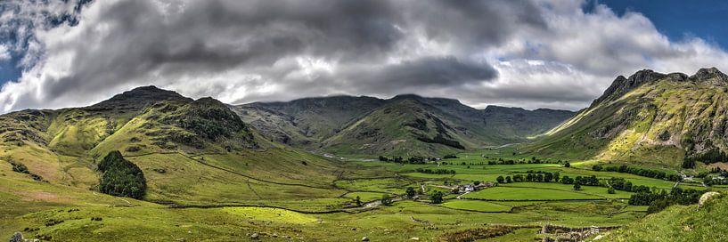 Panorama Lake District, Engeland van Frans Blok