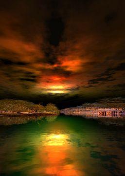 Sonnenuntergangsfarben 7 von Angel Estevez