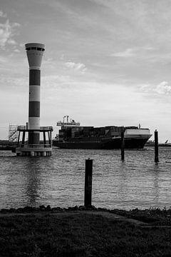 Leuchtturm Elbe Hamburg von Der HanseArt