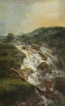 Schweizer Landschaft mit Wasserfall, Gerard van Nijmegen