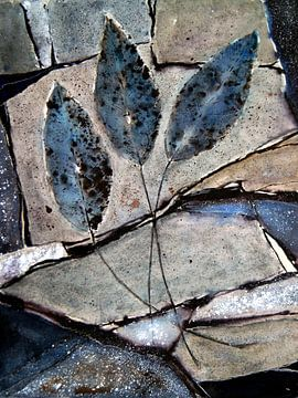 Blauwe Bladeren  van Christine Nöhmeier
