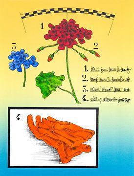 Geranium Met Tuinhandschoenen