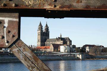 De Dom van Maagdenburg, het herkenningspunt van de stad van Heiko Kueverling