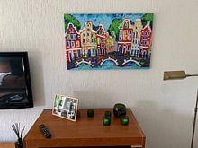 Klantfoto: Amsterdam van Vrolijk Schilderij, op canvas