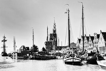 Hoorn Haven Noord-Holland Nederland Zwart-Wit van Hendrik-Jan Kornelis