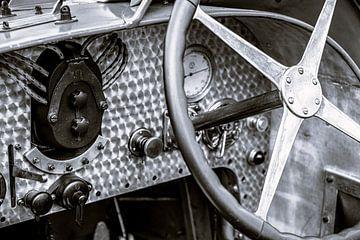 Bugatti Typ 35 Vintage 1920er Jahre Rennwagen Innenraum Detail von Sjoerd van der Wal