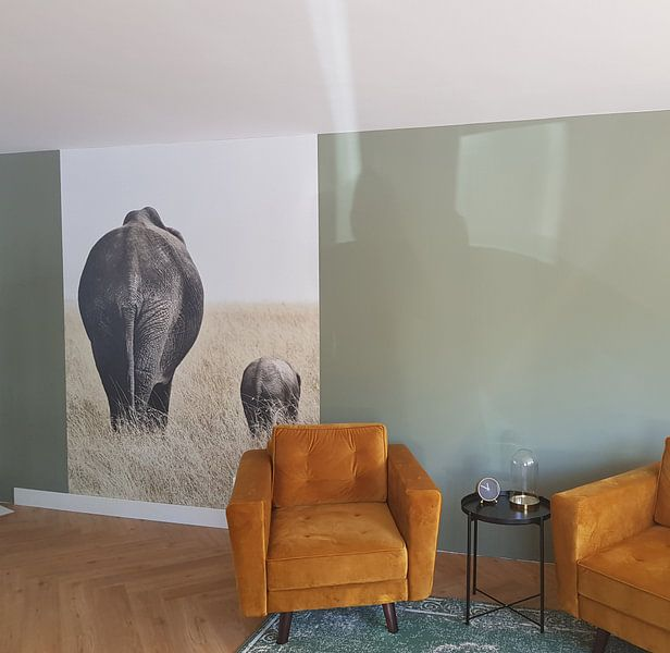 Kundenfoto: Elefant mit kleinem von Esther van der Linden