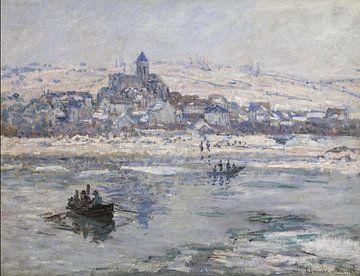 Vétheuil en hiver, Claude Monet sur