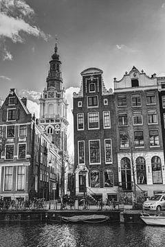 Zuiderkerk Amsterdam Kloveniersburgwal Hiver Noir et Blanc