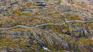 Dalsnibba bergweg, Møre og Romsdal, Noorwegen van Henk Meijer Photography