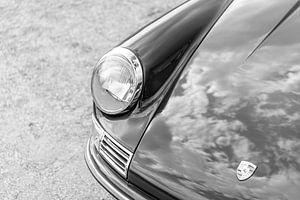 Porsche 911 klassieke sportauto in zwart wit