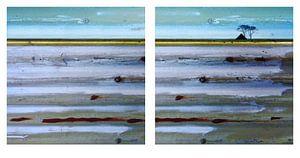 VOORBEELD Tweeluik  01 Abstract Waddenlandschap NIET BESTELLEN