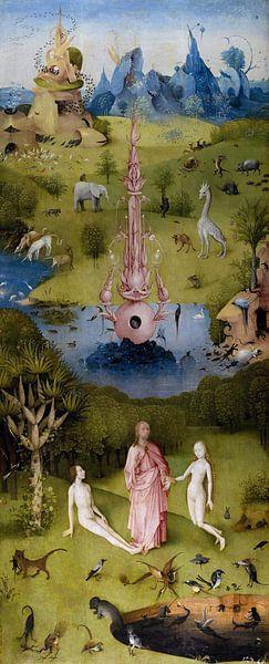 Jeroen Bosch. Garten der Freuden - Paradies, 1490 von 1000 Schilderijen