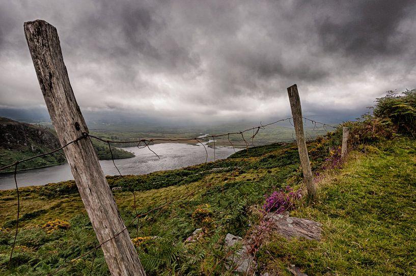 old fence, Ireland von Bas Wolfs