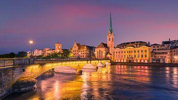 Een zomeravond in Zürich van Henk Meijer Photography