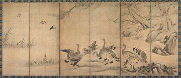 Kano Sanraku. Wild Geese sur