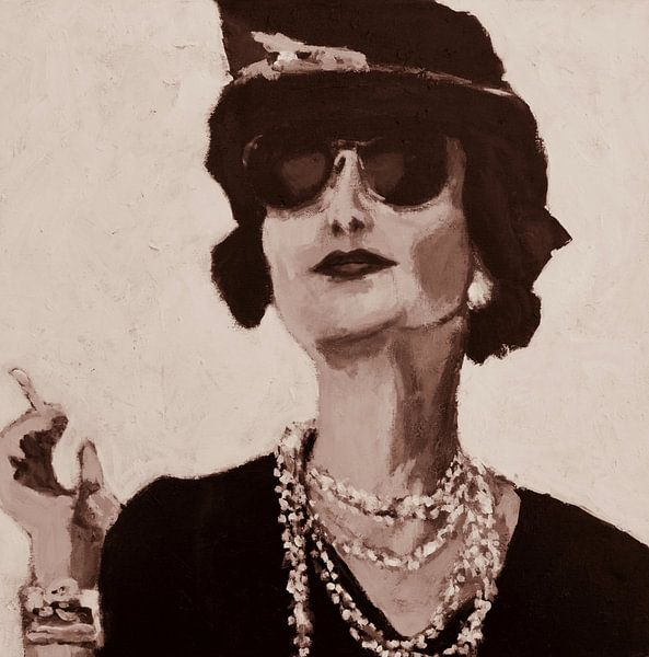 Portrait en noir et blanc sur Mieke Daenen