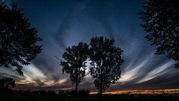 Zonsondergang te Schendelbeke von Ronald De Neve