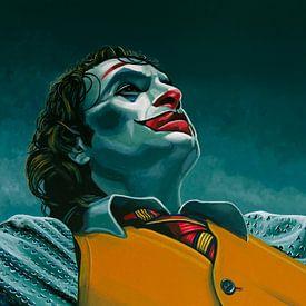 Joaquin Phoenix in der Joker-Malerei von Paul Meijering