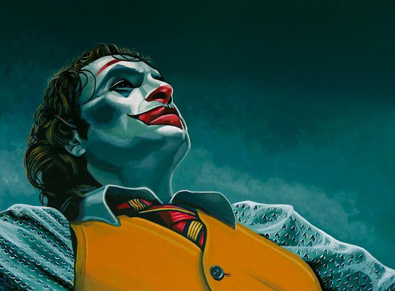 Joaquin Phoenix in Joker Schilderij van Paul Meijering