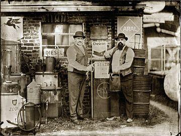 Historische Tankstelle von