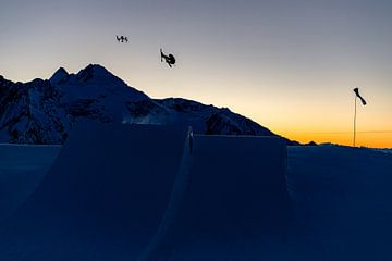 Skifahrer und Drohne von Hidde Hageman