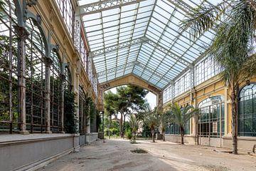 Verlassenes großzügiges Gewächshausgebäude in Barcelona von Simon Peeters