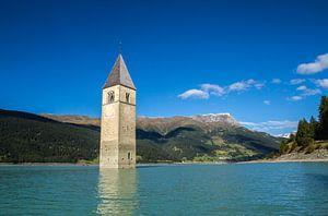 Kerktoren van Alt-Graun, Reschensee
