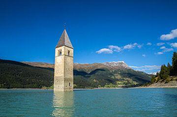 Church tower of Alt-Graun, Reschensee von Dirk Jan Kralt