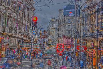 Bewegung in London londen von Groothuizen Foto Art