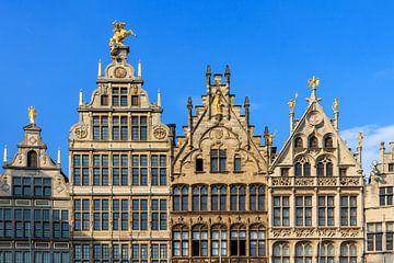 Grote Markt gevels in Antwerpen van
