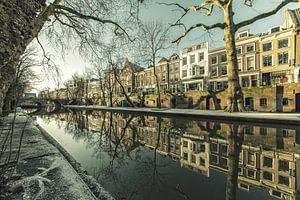 Oudegracht met Smeebrug in Utrecht van