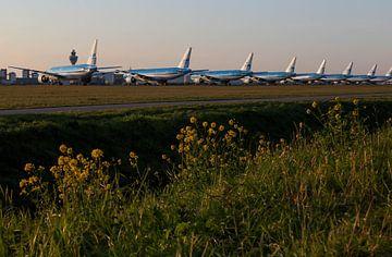 KLM's Boeing 777 parked at Schiphol van Robin Smeets