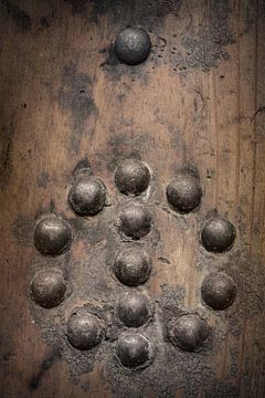 Clous dans une planche de bois sur Danny den Breejen