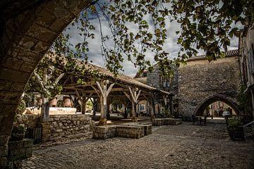Dorpsgezicht Dordogne von Frans Scherpenisse