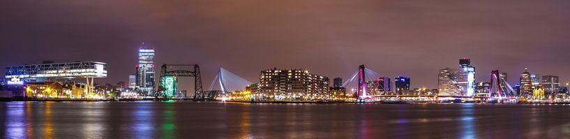 Panorama Rotterdam van John Monster